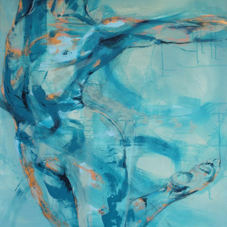 Taiteilija Tuula Ropposen maalaus
