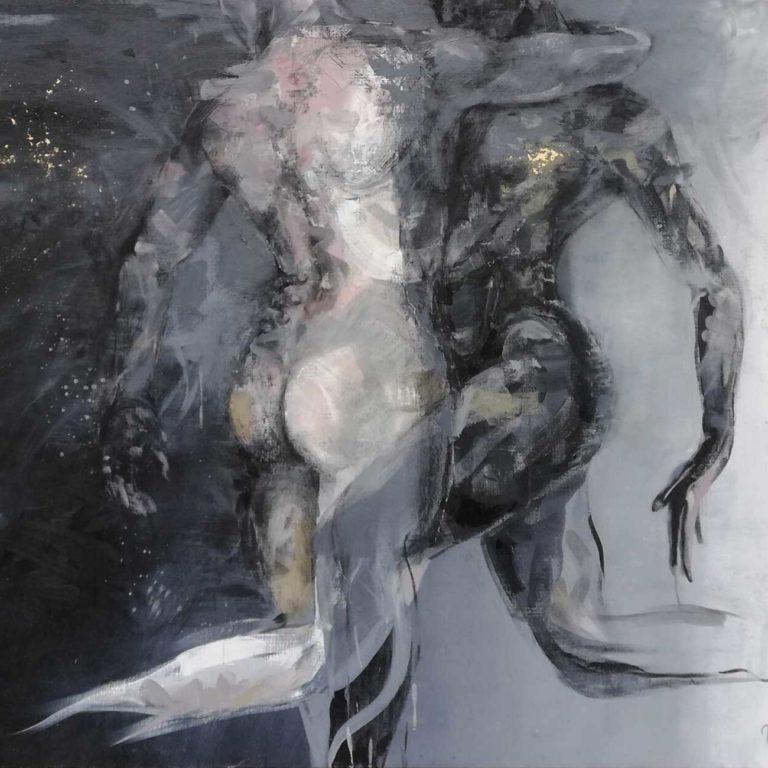 Taiteilija Tuula Ropponen, maalaus Tanssii tähtien kanssa